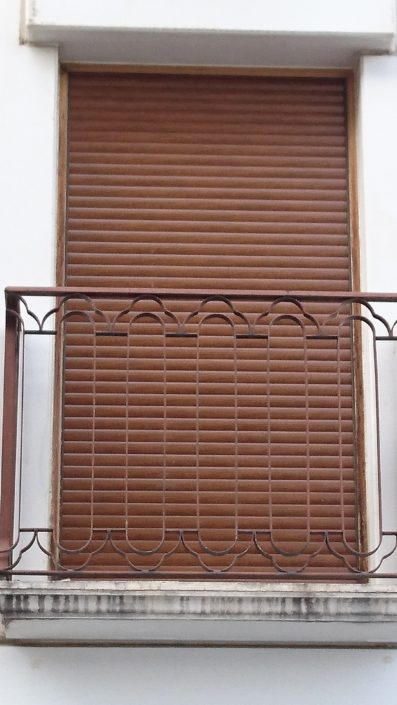 persiana de aluminio color madera